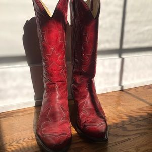 Red Corral coy boy boots sz 9